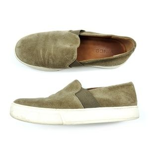 Vince Earthy Brown Suede Leather Slip On Shoes